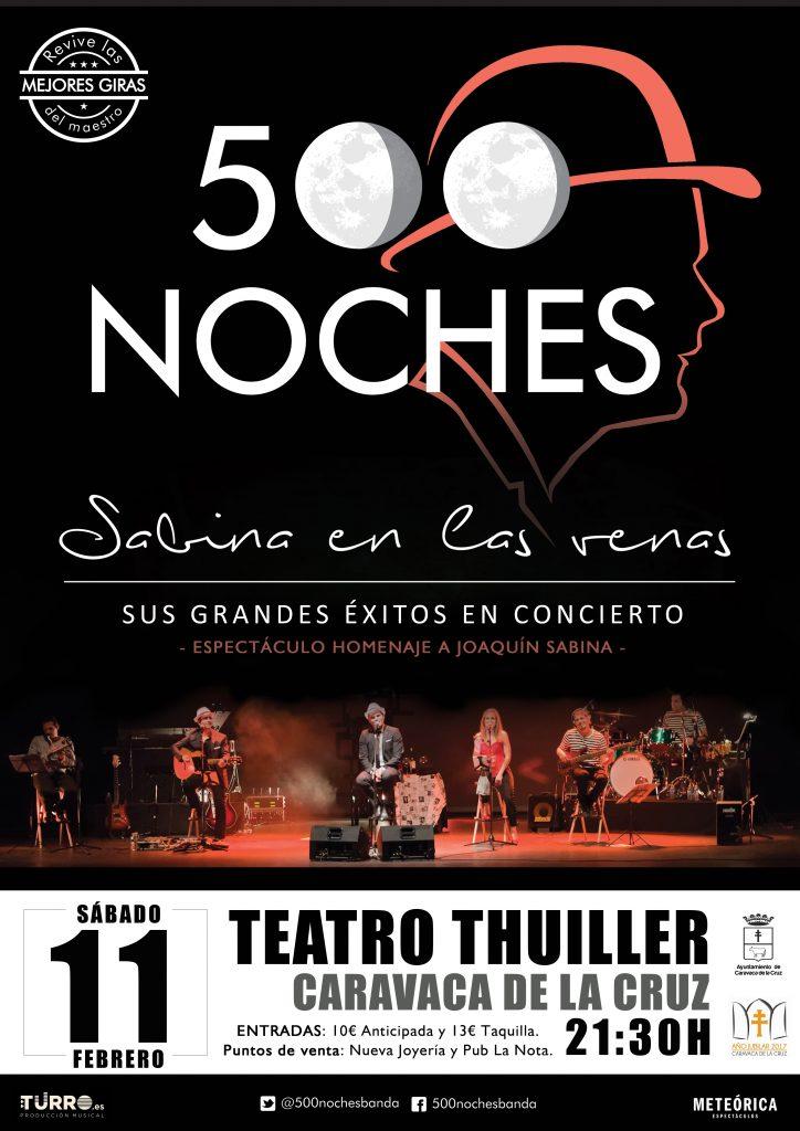 """Espectáculo """"500 noches"""" tributo a Sabina"""