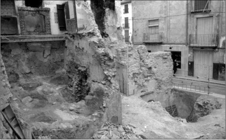 puerta de santa ana. foto antigua