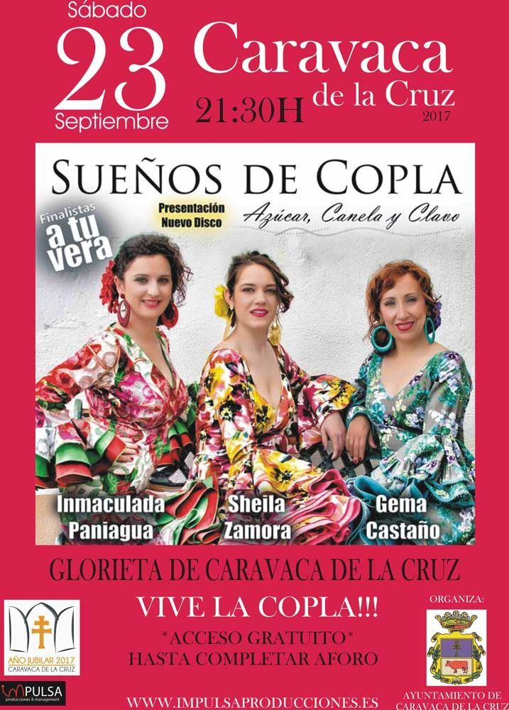 """Sueños de Coplas"" in Caravaca de la Cruz next Saturday 23 September"