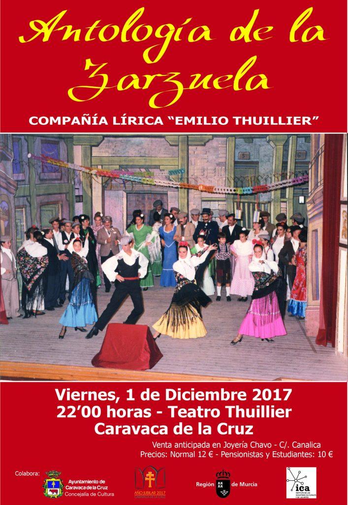 Cartel de 'Antología de la Zarzuela'.
