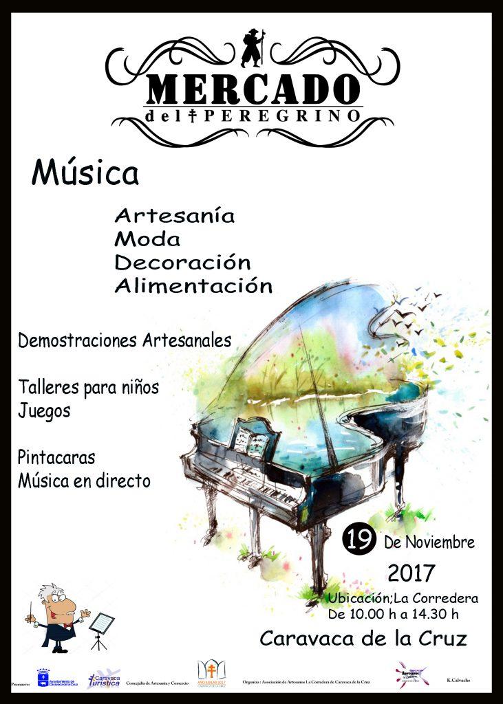 Cartel del Mercado del Peregrino de Caravaca del día 19 de noviembre de 2017.