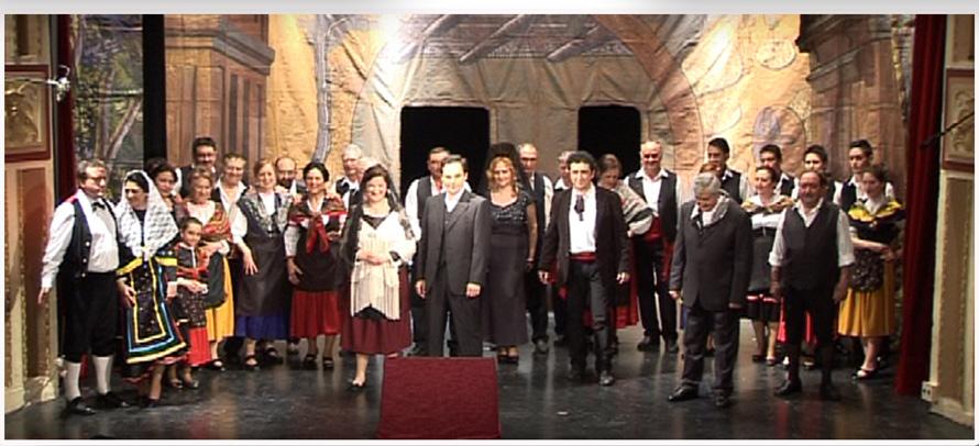 Un momento de la actuación de la Compañía Lírica 'Emilio Thuiller'.