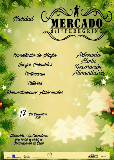 Cartel del Mercado del Peregrino de Caravaca del 17 de diciembre.