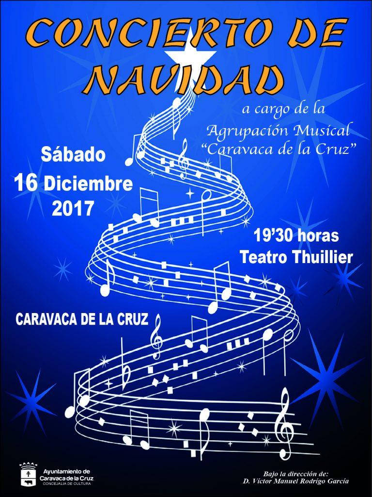 Cartel del Concierto de Navidad en Caravaca.