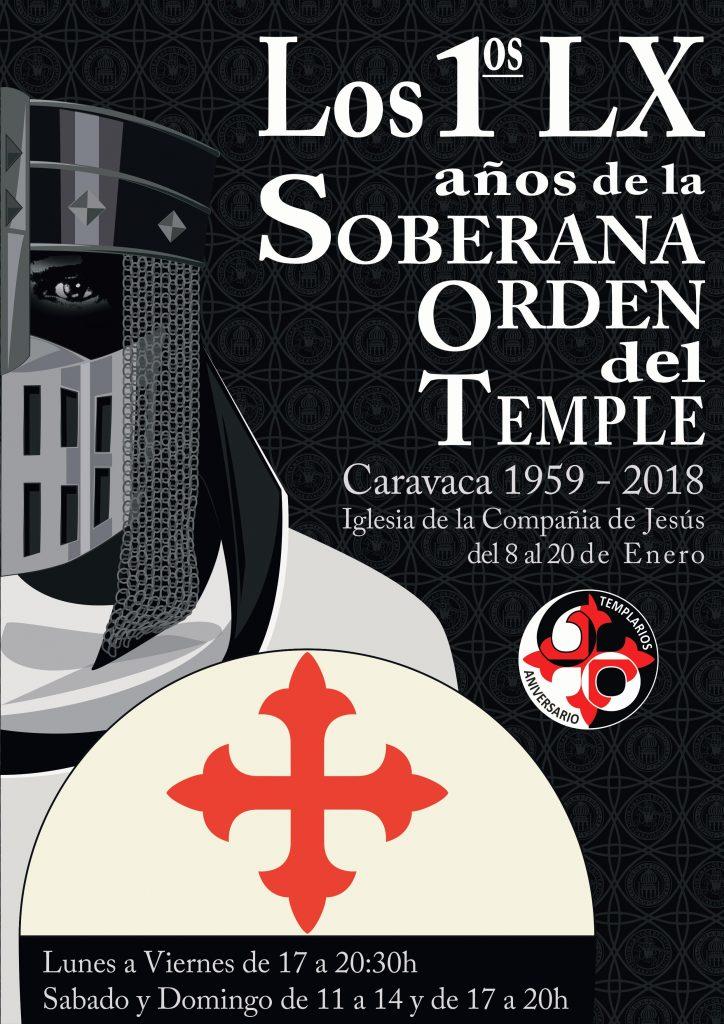 Cartel de la exposición del 60 aniversario de la Soberana Orden del Temple de Caravaca.