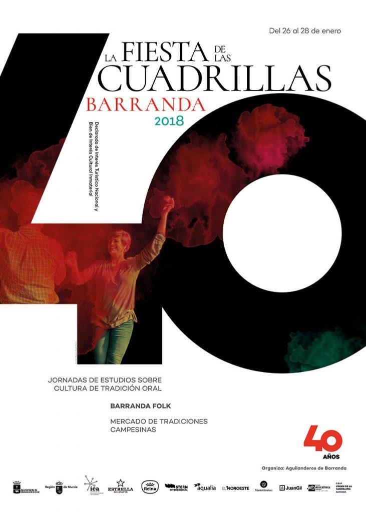 Cartel de la 40 edición de la Fiesta de las Cuadrillas de Barranda en 2018.
