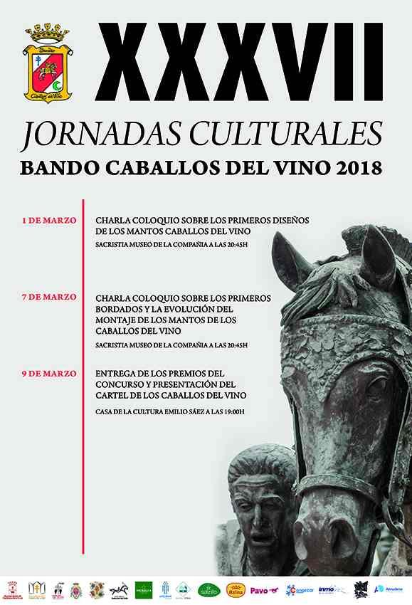 El cartel de la XXXVII edición de las Jornadas Culturales del Bando de los Caballos del Vino.