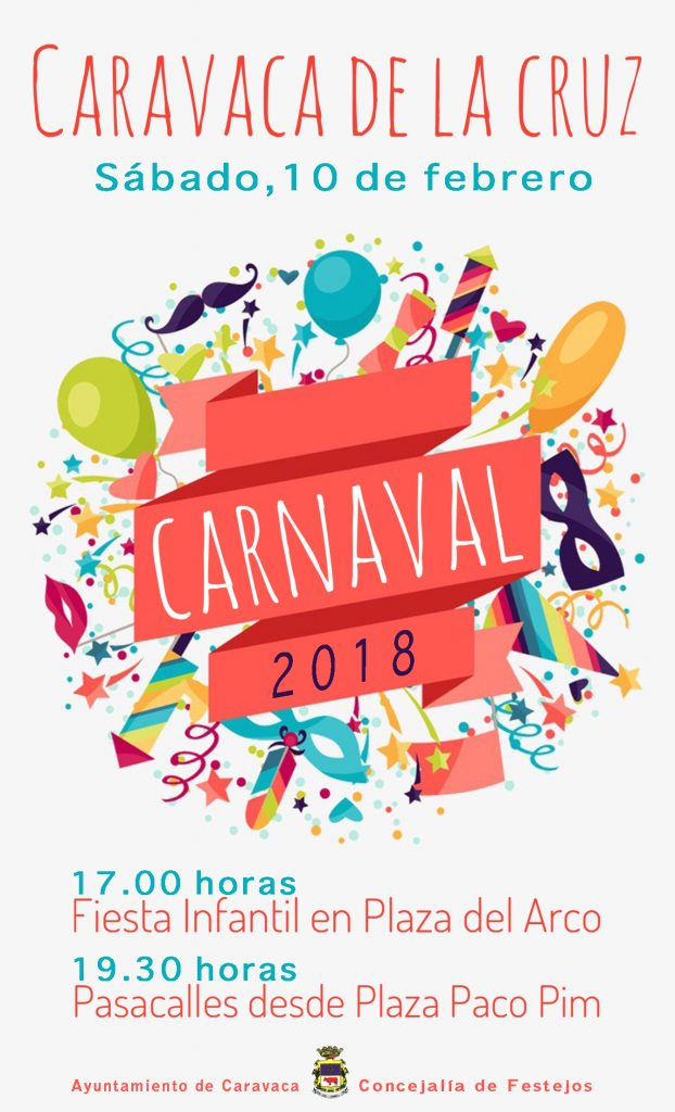 Cartel del Carnaval de Caravaca de 2018.