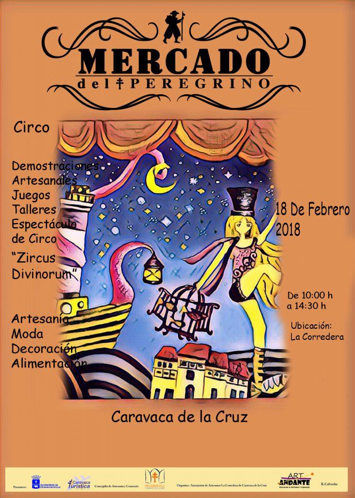 Cartel del Mercado del Peregrino de Caravaca del domingo 18 de febrero.