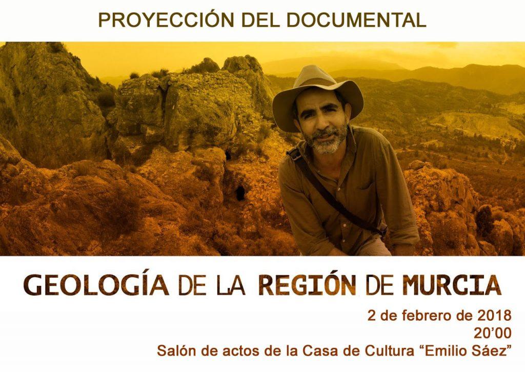 Cartel del documental 'Geología de la Región de Murcia'.