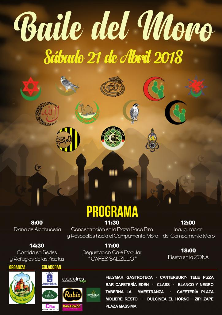 Cartel del Baile del Moro de Caravaca del 2018.