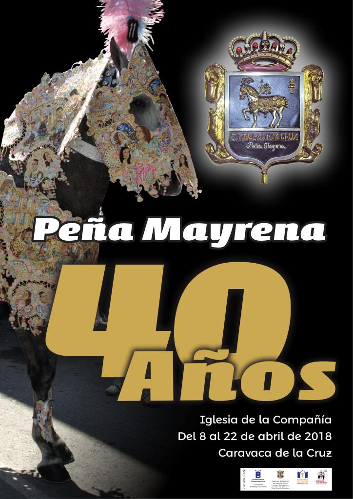 Cartel del 40 aniversario de la Peña Mayrena en 2018.