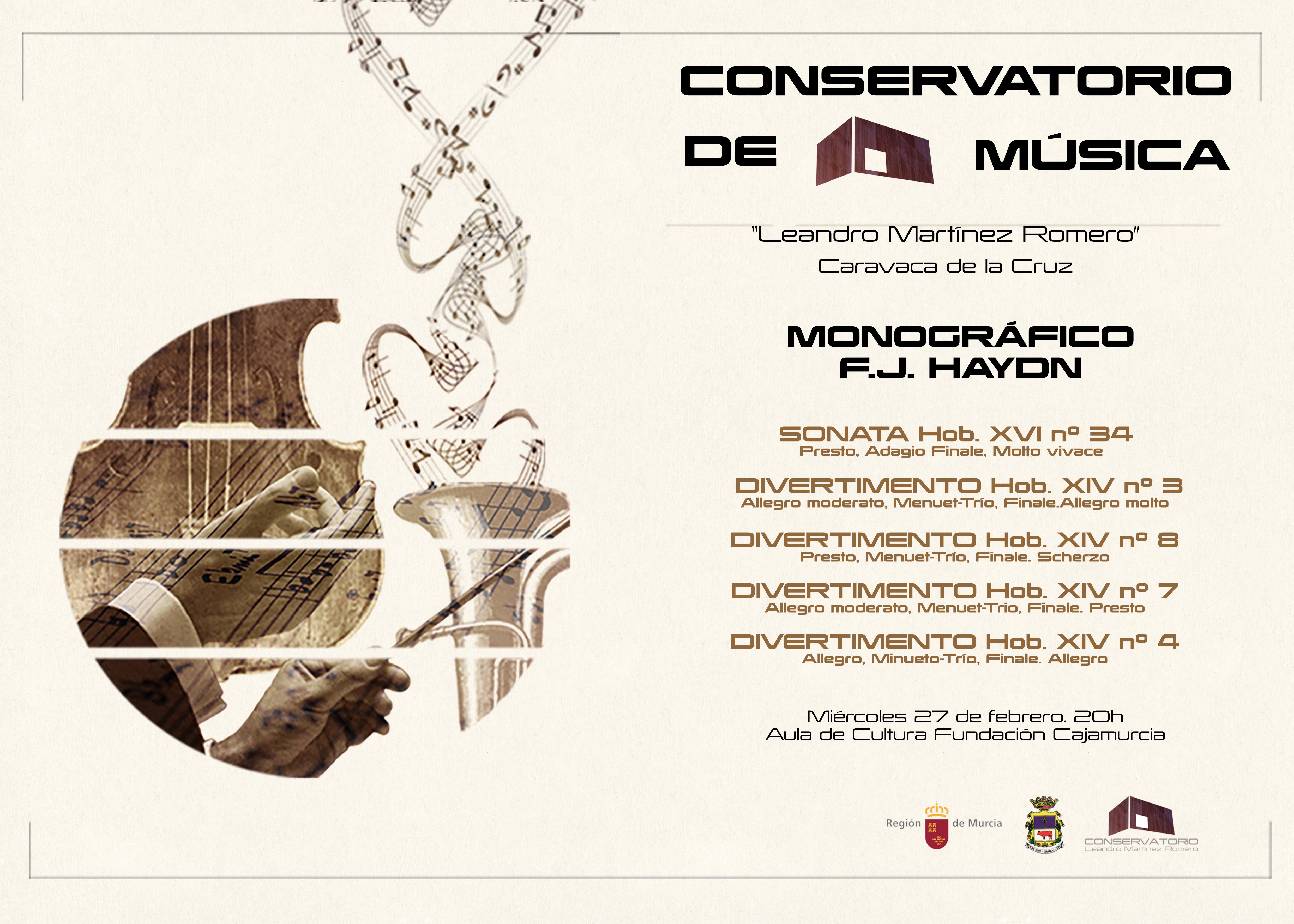 Concierto monográfico F. J. Haydn del Conservatorio de Música Leandro Martínez Romero de Caravaca de la Cruz