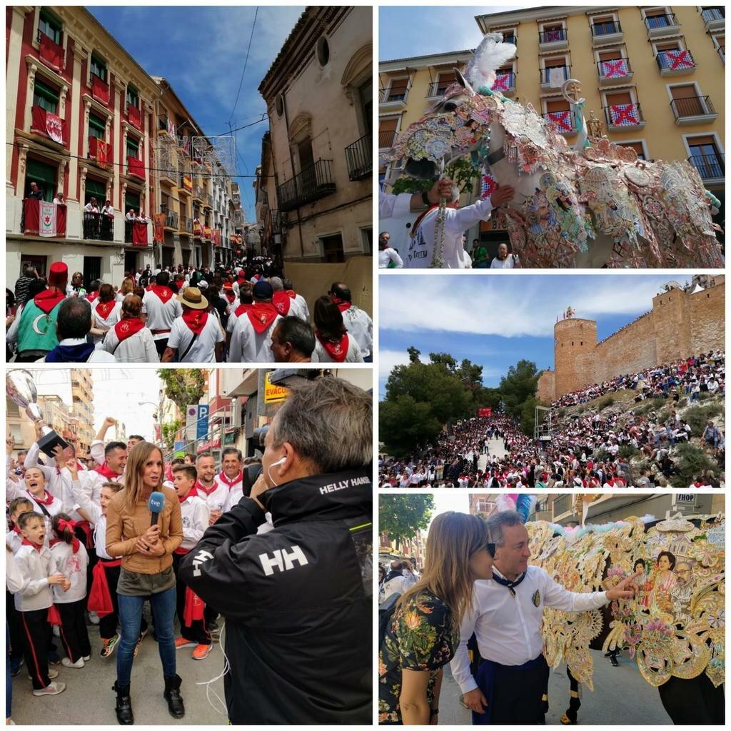Algunos momentos del 2 de mayo de 2019 en Caravaca/ Ayuntamiento de Caravaca.
