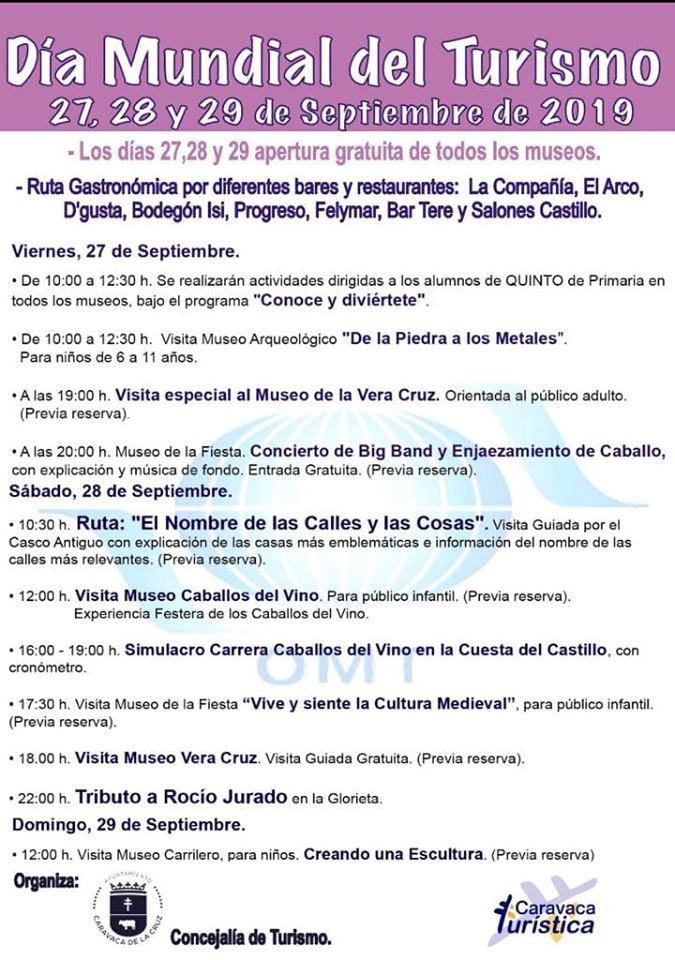 Dia Internacional del Turismo en Caravaca de la Cruz