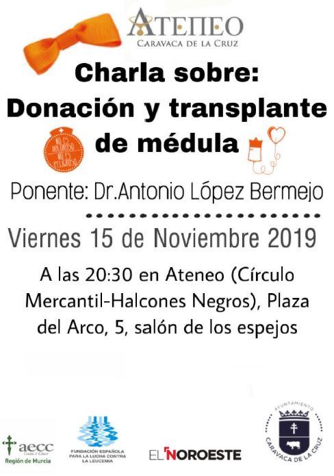 Charla sobre donación y trasplante de médula